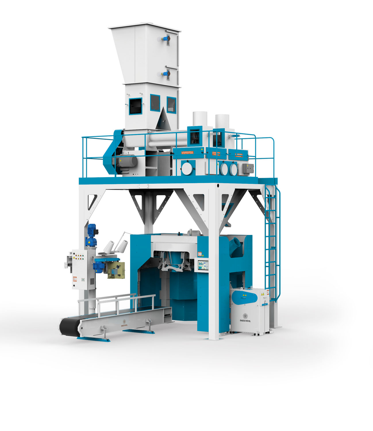 Flour Bagging Machine With Double Weigh Hopper & Four Stations 10/25/50 Kg