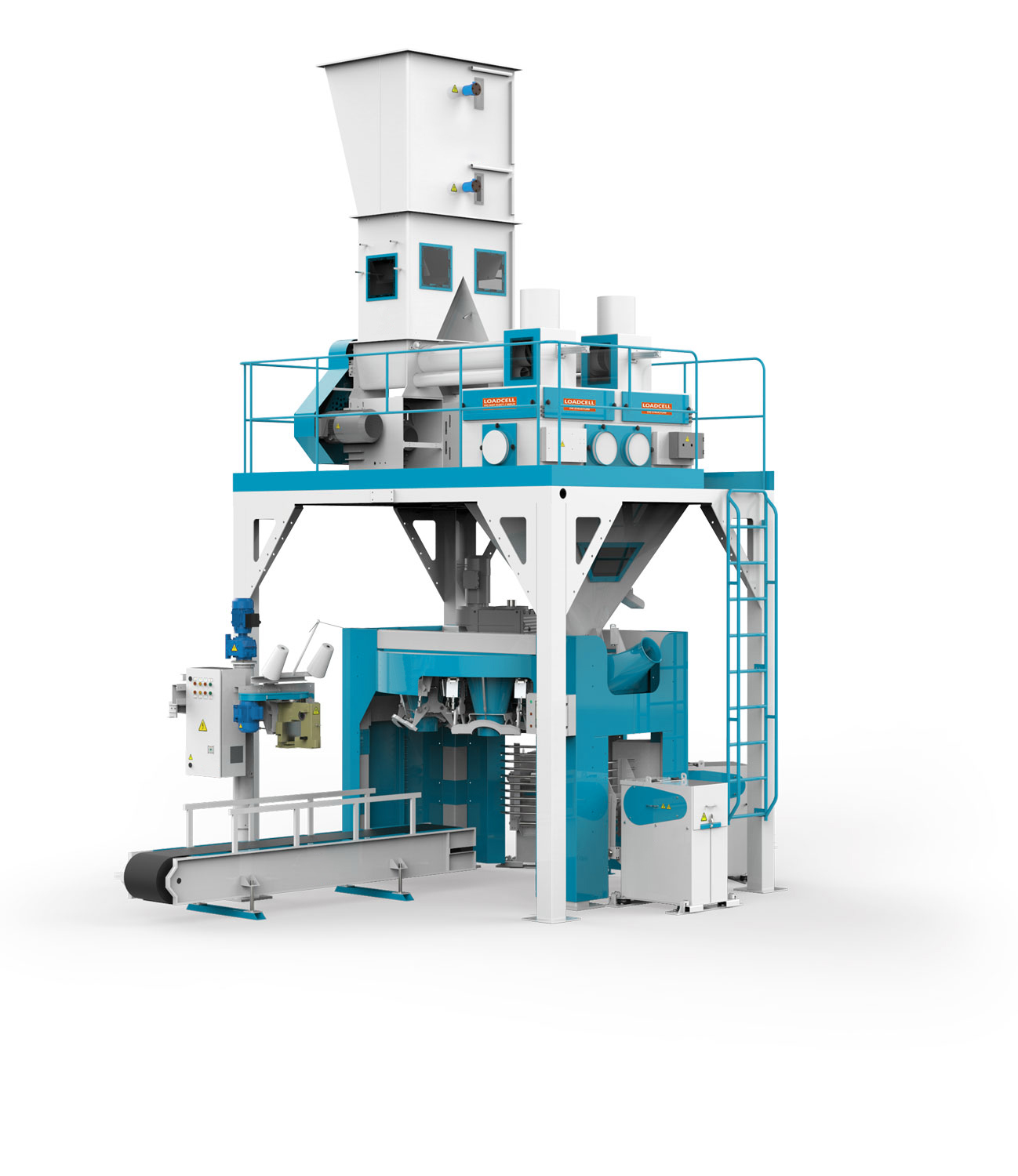 Flour Bagging Machine With Double Weigh Hopper & Six Stations 10/25/50 Kg