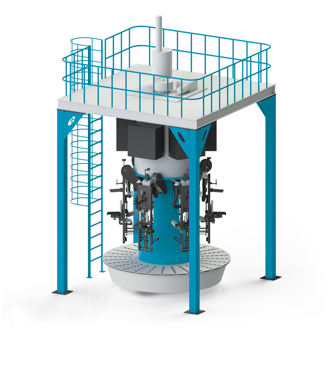 Valve Type Flour Bagging Machine & Six Weigh Hopper 10/25/50 Kg