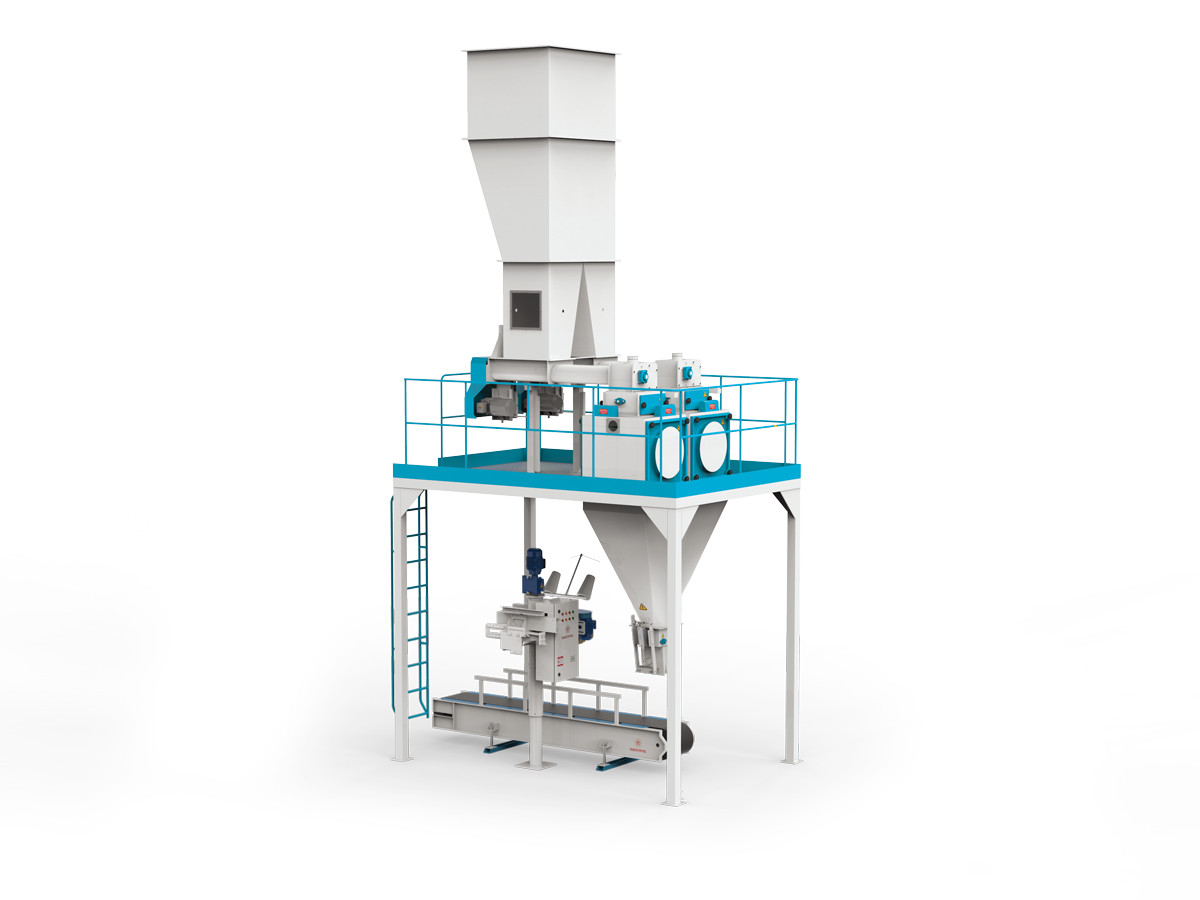 Flour Bagging Machine System With Double Weigh Hopper & Single Station 5/10 Kg