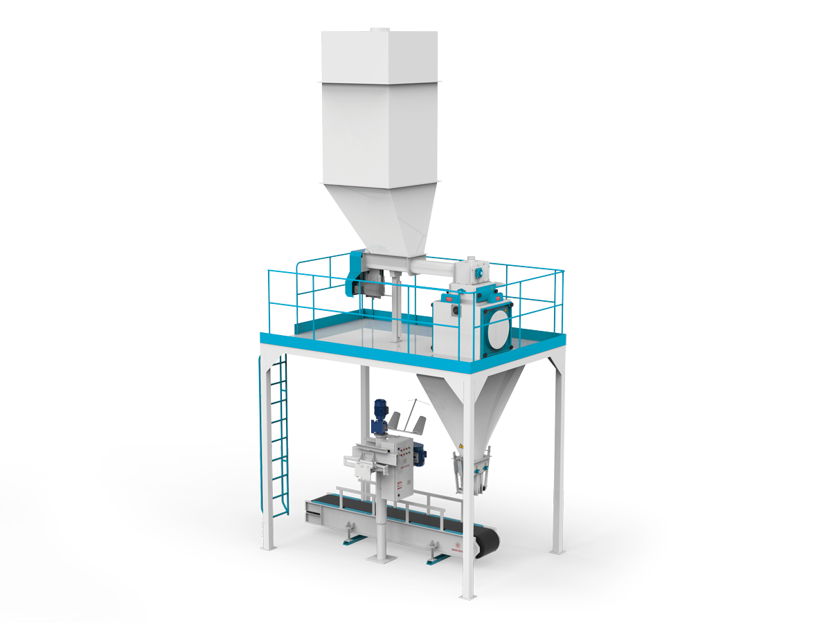 Flour Bagging Machine System With Double Weigh Hopper & Single Station 5/10 Kg5