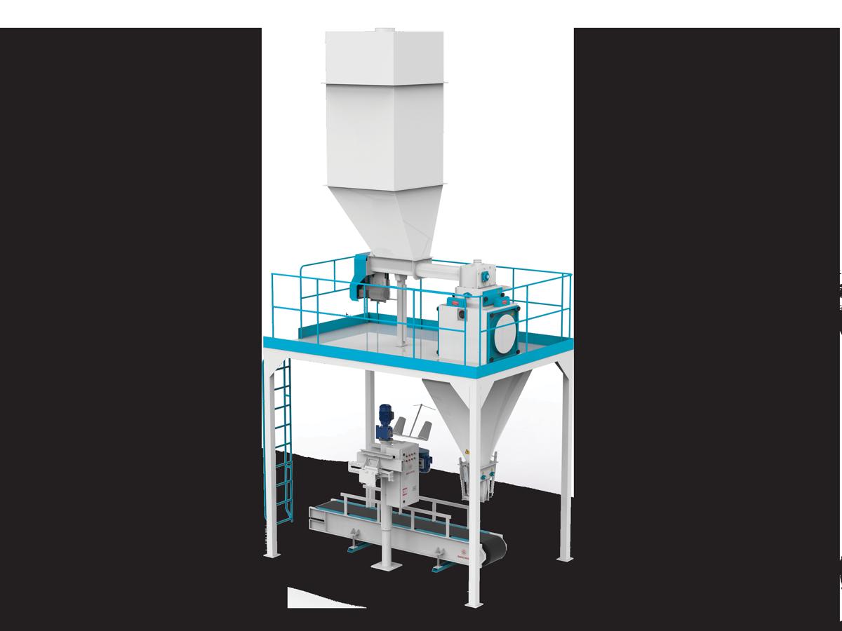Valve Type Flour Bagging Machine & Six Weigh Hopper 10/25/50 Kg5