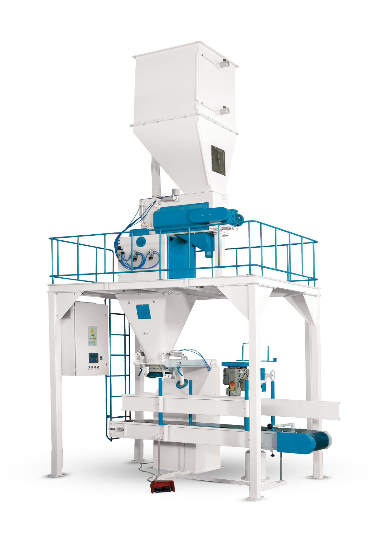 Flour Bagging Machine System With Double Weigh Hopper & Single Station 5/10 Kg7