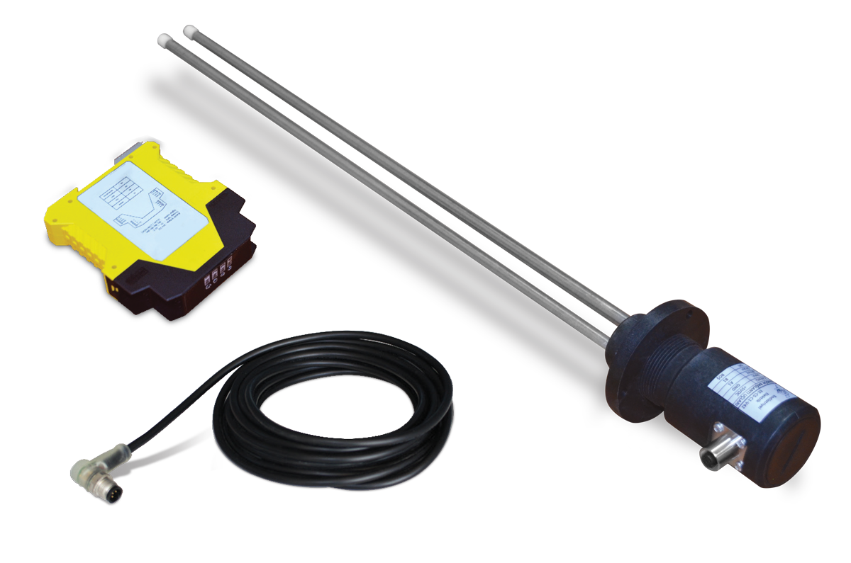 Double Probe Capacitive Level Sensor (with Sloped Shaft)3
